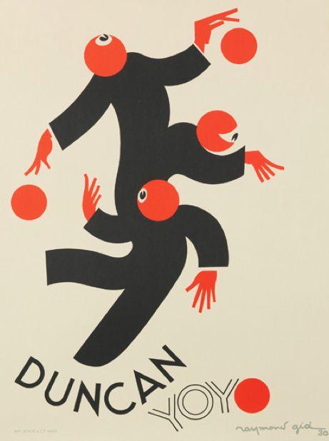 By Raymond Gid (1905-2000), 1930, Duncan Yo-yo, Paris. Duncan yo-yos hit the market in 1929 and quickly became an international sensation.