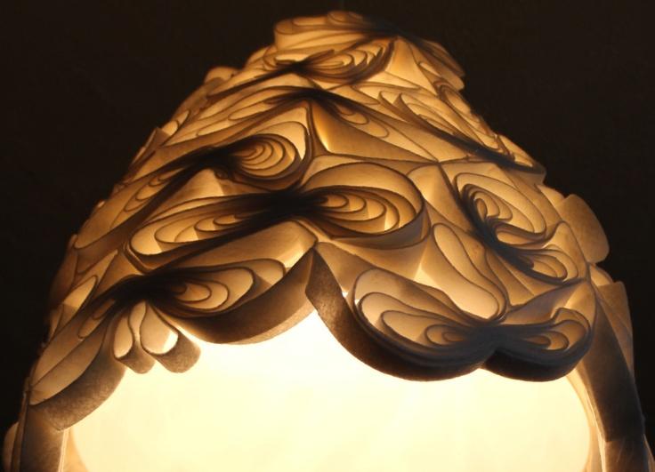 Felted pendant light #diy inspiration