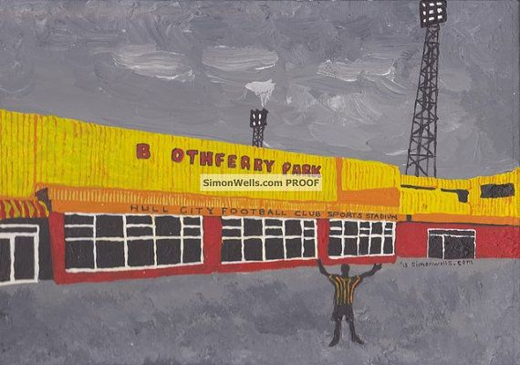 Hull City Boothferry Park: Limited edition A6 by AmbigramArt