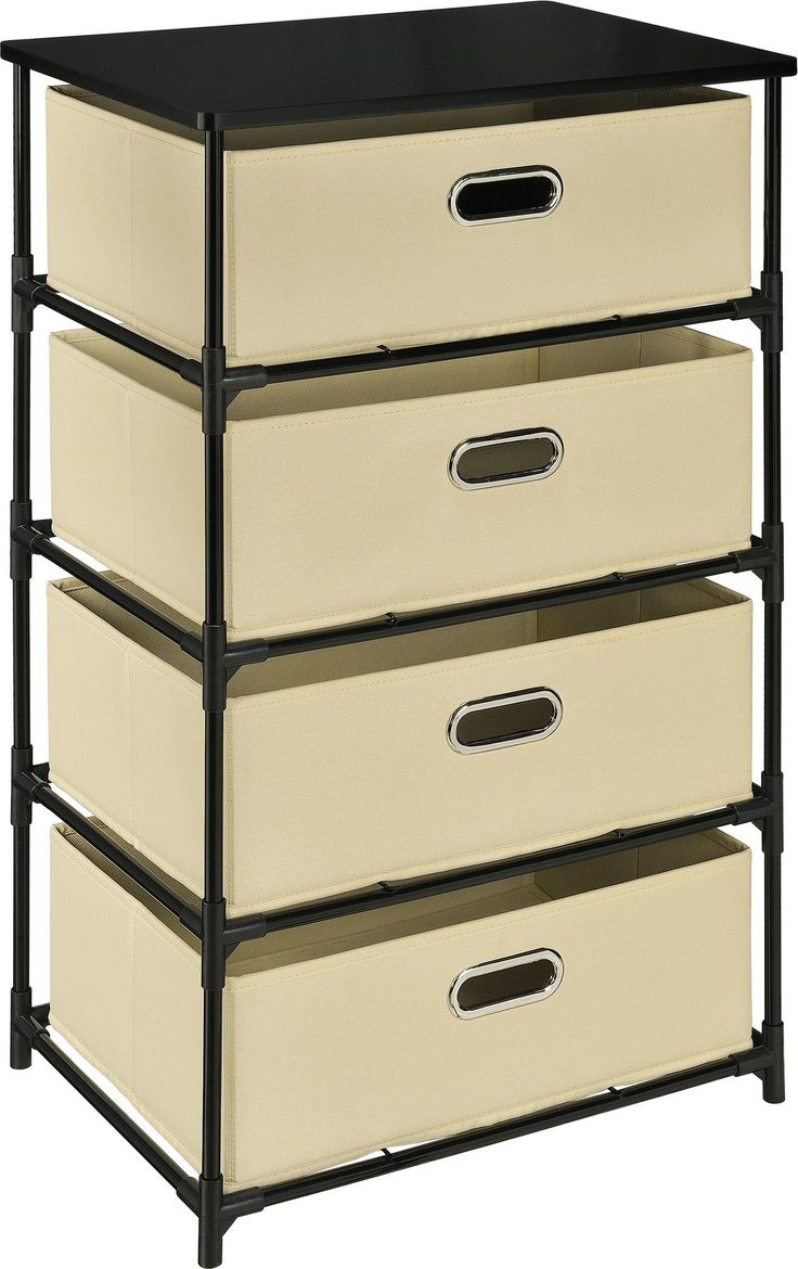 4 Drawer Storage Unit End Table
