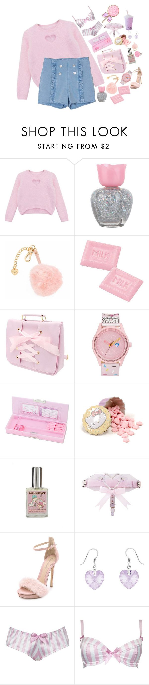 """-ITS MY BIRTHDAY!!-"" by akiko-pastel-princess ❤ liked on Polyvore featuring Chicnova Fashion, Forever 21, Juicy Couture, Harajuku Lovers, Hello Kitty, Monique Lhuillier, Divine Silver and Alexis Smith"