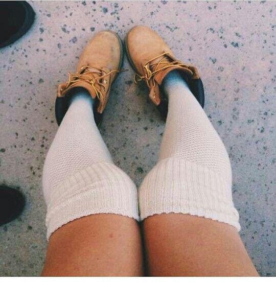 Timberland With Knee High Socks | Timberland | Pinterest ...