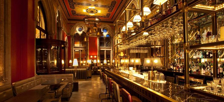 The Booking Office, in St Pancras station, is one of my favorite places to grab a drink. It's also serves classic British dishes. It's one of the most charming places to grab a drink. You can access the Booking office via St. Pancras station or through the St Pancras Renaissance Hotel.