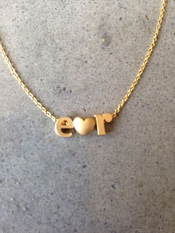 lower case initial necklace gold initial heart necklace love initial letter letter necklace personalized monogram name necklaces