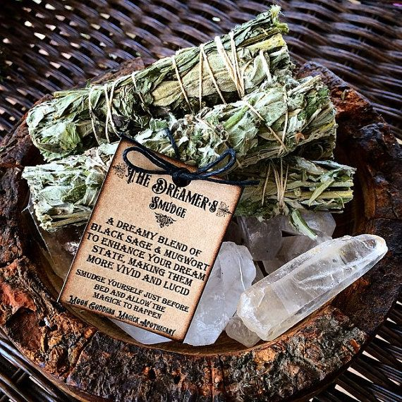 "The Dreamer's Smudge ~ Black Sage and Mugwort to Enhance your Dreams~ 4"" long~ Vivid Dreams ~ Lucid Dreams"