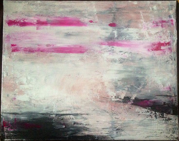 Black white abstract painting. Olivia Sellinger