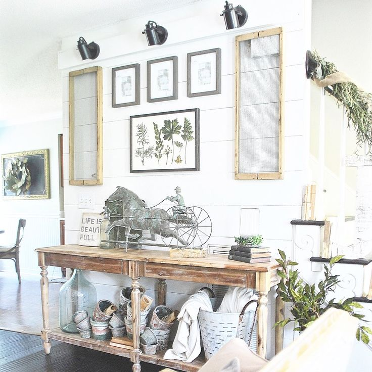 Shiplap Farmhouse Gallery Wall By Plum Pretty Decor And Design
