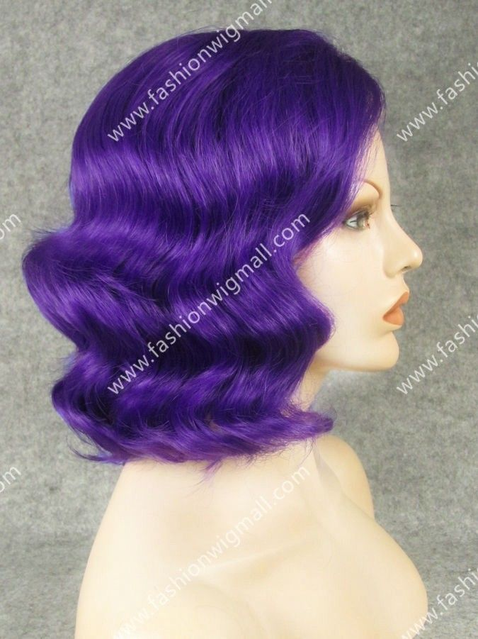 Blue Wavy Lace Front Party Wig  #lacefrontwig
