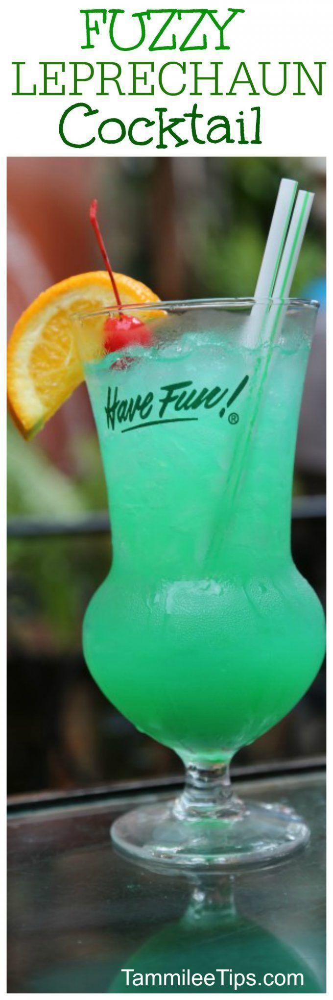 Fuzzy Leprechaun Green Cocktail Recipe perfect for St Patricks Day! Throw a kill…