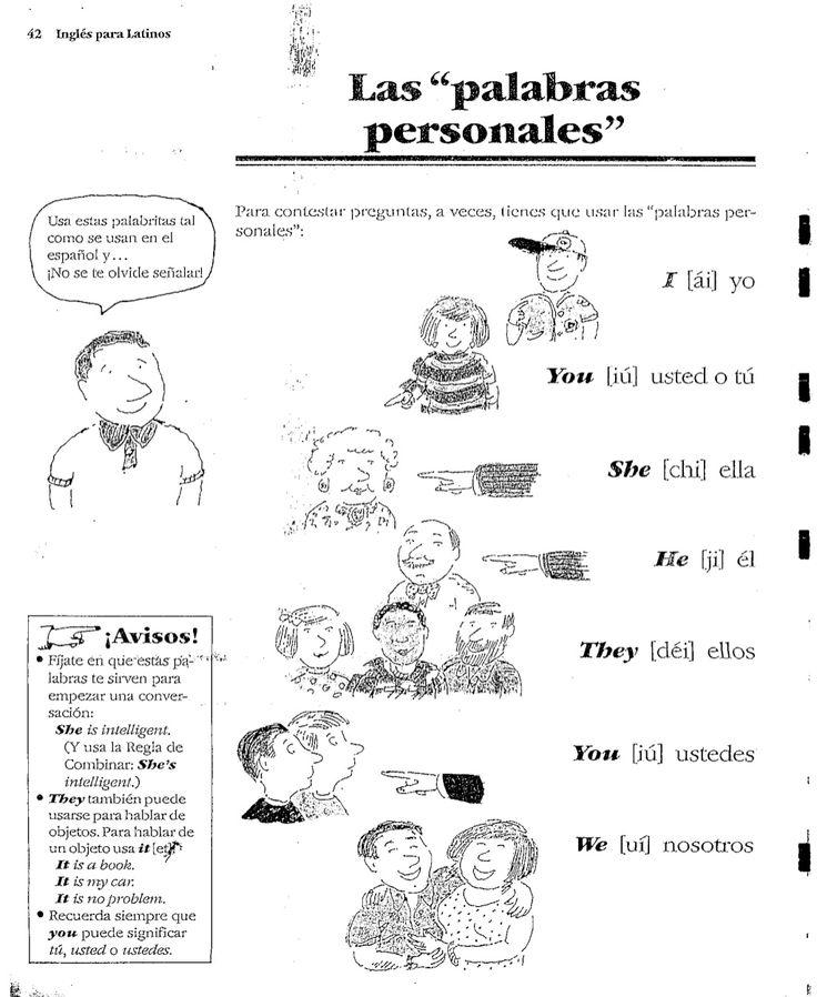 42 Inglés para Latinos Usa estas palabritas tal como se usan, en el español, y... ¡No se te olvicle señalar! Para contesta...