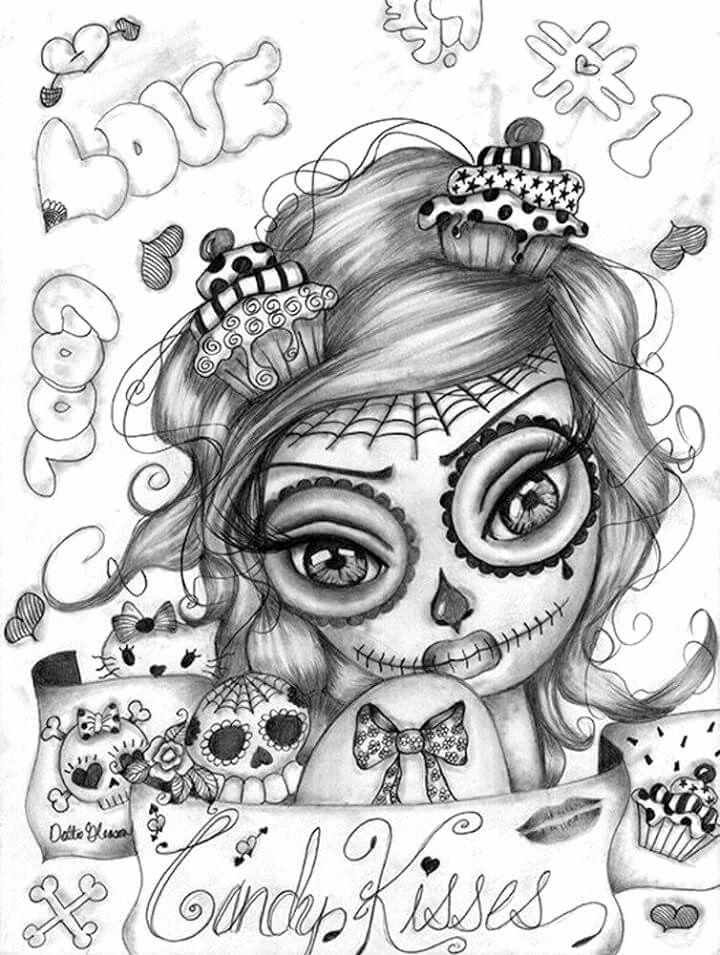 Sugar Skull Girl Coloring Pages Duathlongijon Coloring Blog In 2020 Skull Coloring Pages Sugar Skull Girl Skull Girl Tattoo
