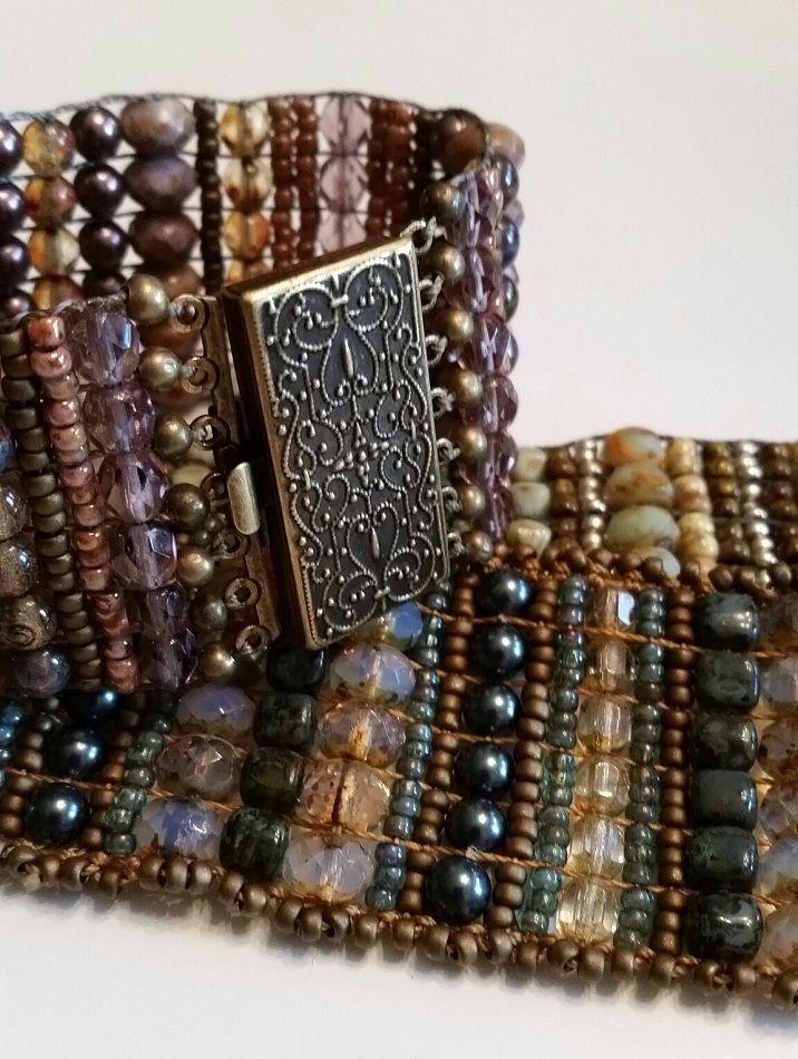 Beaded Loom Bracelet | JewelryLessons.com                                                                                                                                                                                 More