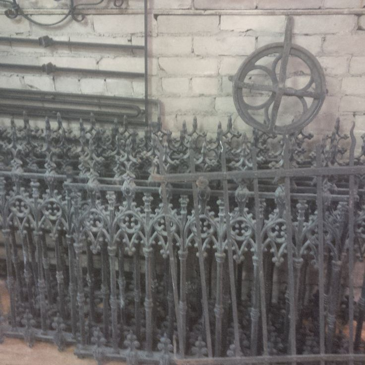 Lots of wrought iron fencing in different dementions
