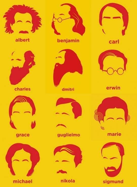 Famous scientist hair.