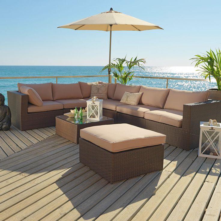 Gartenmöbel, Polyrattan, Gartenmöbel aus Polyrattan, Möbel für den Garten, Garten, dunkelbraun ...