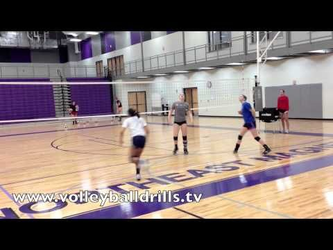 Volleyball Conditioning Drill: Pass Out