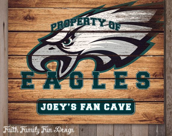 NFL Philadelphia Eagles Team Sign by FaithFamilyFunDesign on Etsy