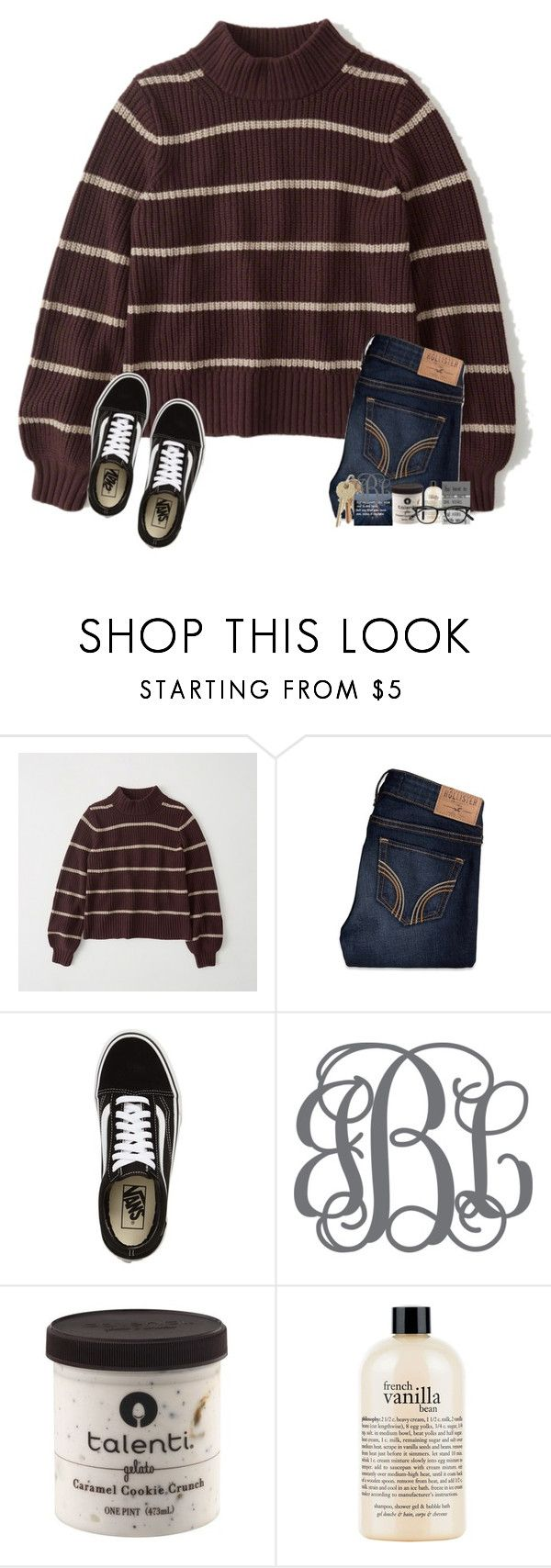 """""""how was everyone's day?"""" by amararangwala ❤ liked on Polyvore featuring Abercrombie & Fitch, Hollister Co., Vans, philosophy and Garrett Leight"""
