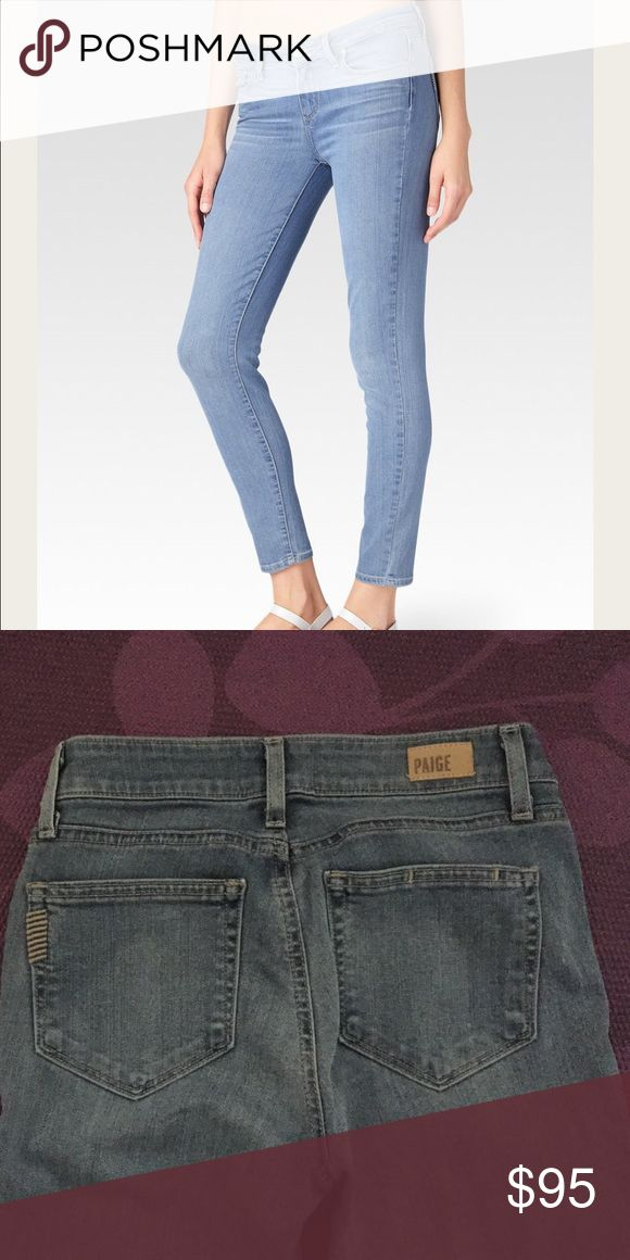 Paige Denim Jeans. Verdugo Ankle Joelle Paige Demin Jeans in like new condition, only worn once as they are too big for me. They are the most comfortable softest jeans ever, and the color is perfect. Purchased for $ 187 size 24 Paige Jeans Jeans Skinny