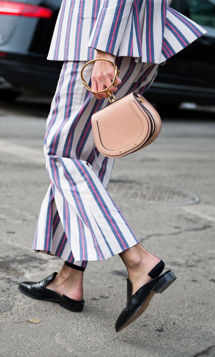 Stripes and mules, shop now at Farfetch