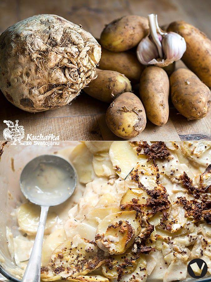 Kuchařka ze Svatojánu: BRAMBORY PEČENÉ S CELEREM