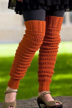 Inspiration. No pattern, but I think I could do something similar. Peggy Sue's Leg Warmers