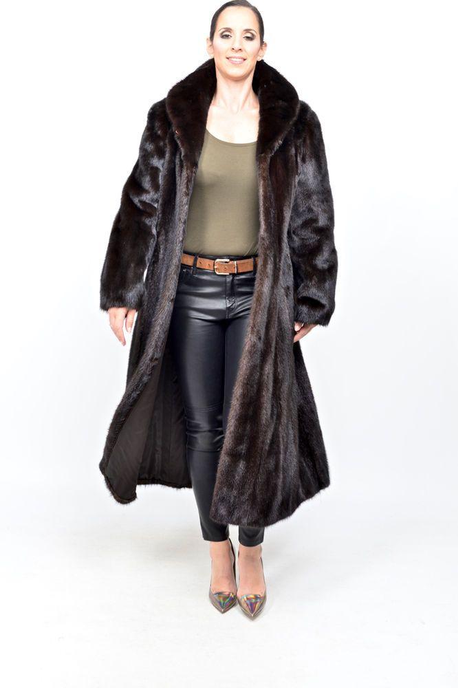 SAGA Mink Fur Coat mahogany black no blackglama nerz vison pele de marta HOPKA  | Clothing, Shoes & Accessories, Women's Clothing, Coats & Jackets | eBay!