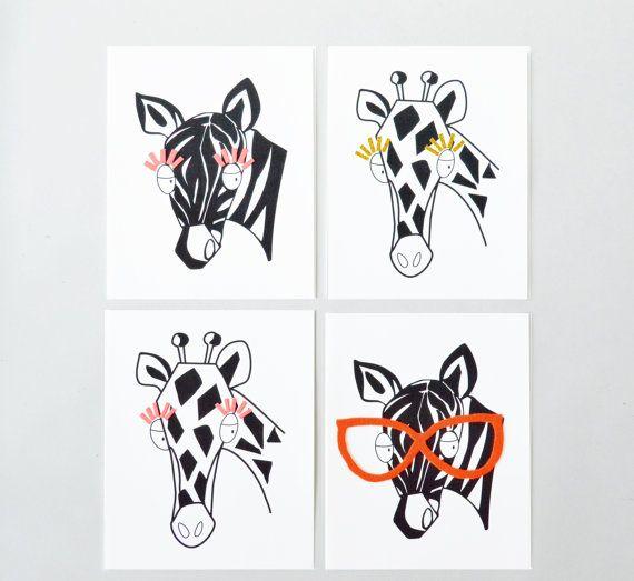 Decor animaux Nursery Set impression définissez par ShenasiConcept