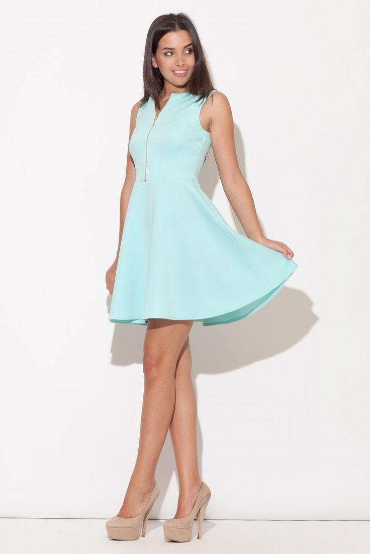Sukienka K098 - Odcienie zieleni