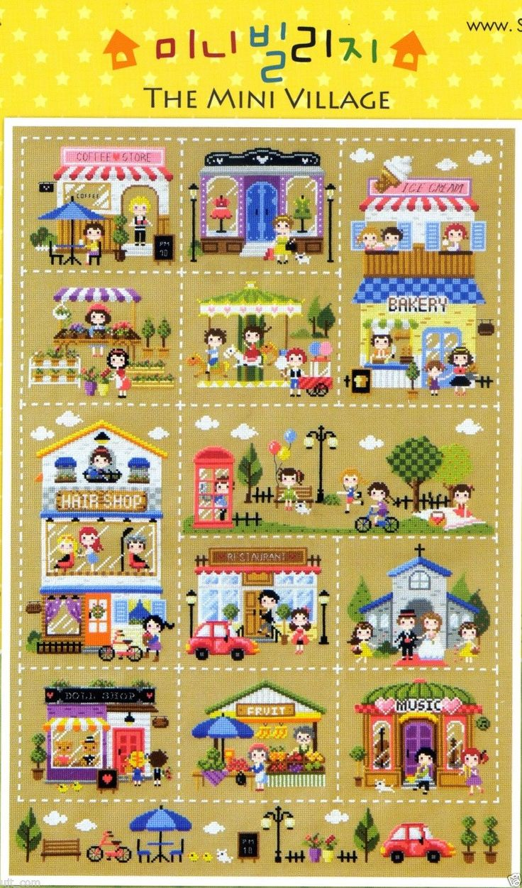 18 best stitch images on pinterest fresh water embroidery mini village counted cross stitch pattern book big chart soda so k8 bankloansurffo Image collections