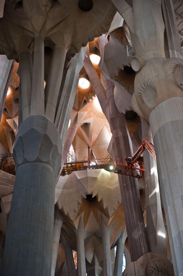 Details van de bouw van de Sagrada Familia
