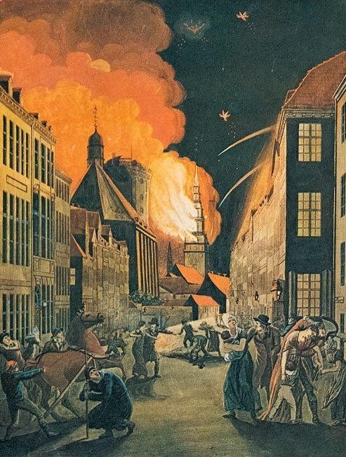 Płonąca Kopenhaga, noc z 4 na 5 września 1807 roku