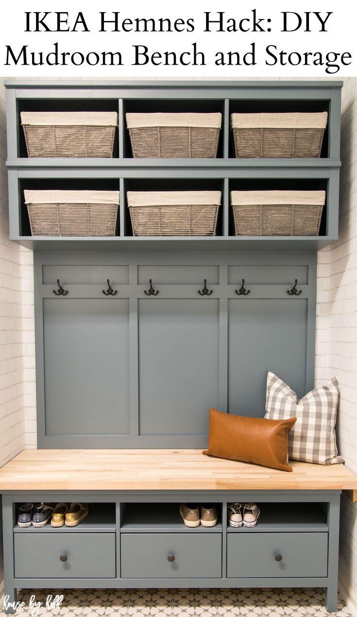 Ikea Hemnes Hack Diy Mudroom Bench And Storage House By Hoff Diy Mudroom Bench Mudroom Makeover Mudroom Decor