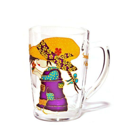 Sarah Kay Mug Hand painted Mug Gift for girl Personalized
