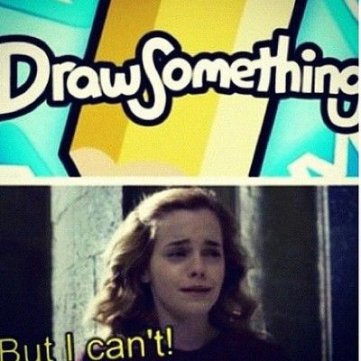 she only reads books; she cannot draw even if she's reading a how-to-draw book. #starkid #avps #harrypotter