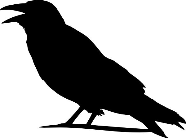 crow silhouette pattern crow clip art pyrography ideas