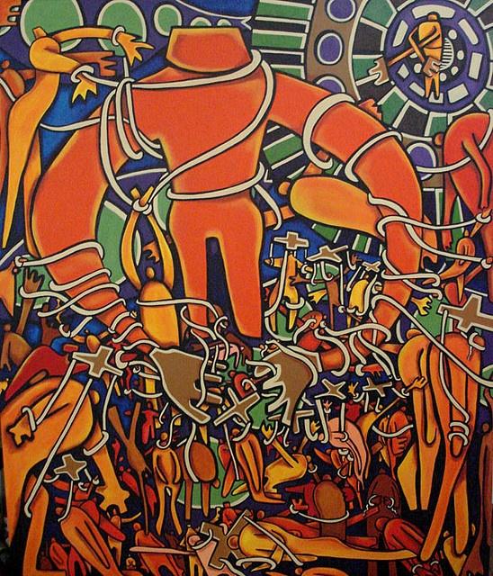 """Titiritero""  acrylic on canvas  100 x 120 cm, available"