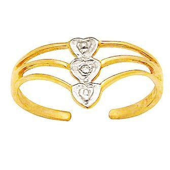 Buy our Australian made Three hearts Toe ring with Diamonds - BEE-24087 online. Explore our range of custom made chain jewellery, rings, pendants, earrings and charms.
