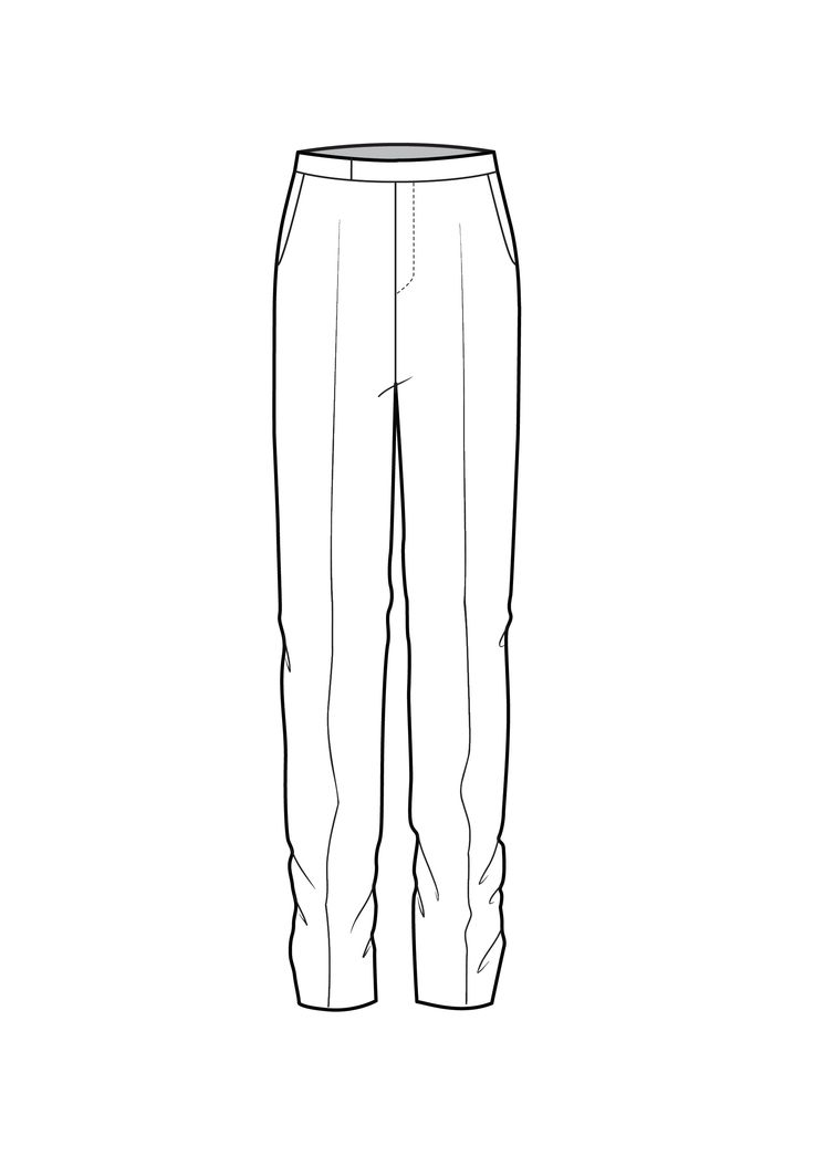 Model Wide Cropped Trousers  Garment Technical Drawings  Pinterest