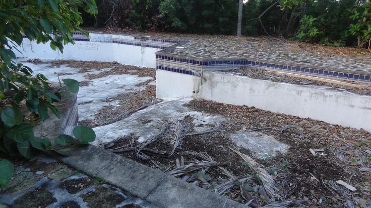 The swimming pool......