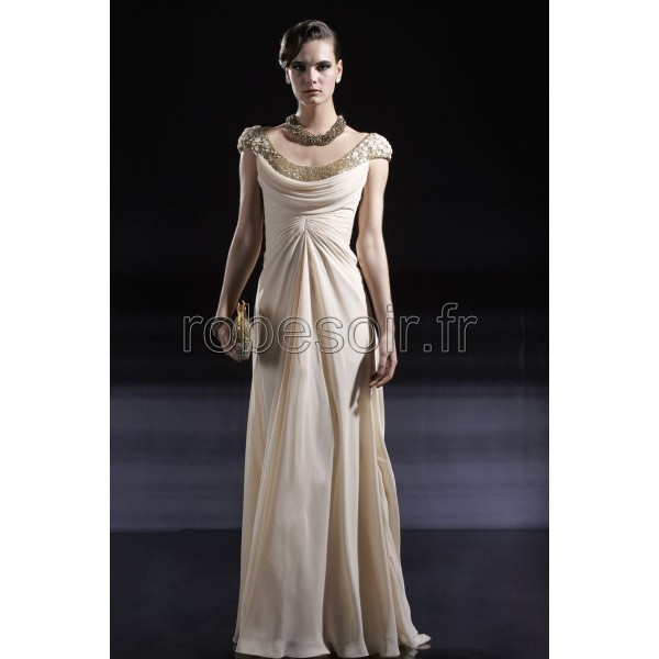 Robe de cocktail blanc beige