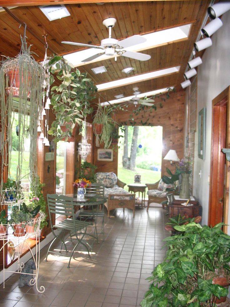 plants for sunrooms  About Sunroom Design Ideas Pictures With Floortile And Hanging Plants