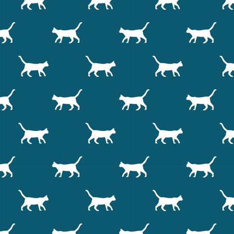 © Pet Friendly - Cat silhouette fabric.  Best cats fabric.