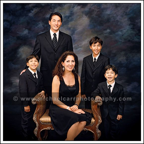 Formal in studio family portrait of 5. Houston Family Portrait Photographers…