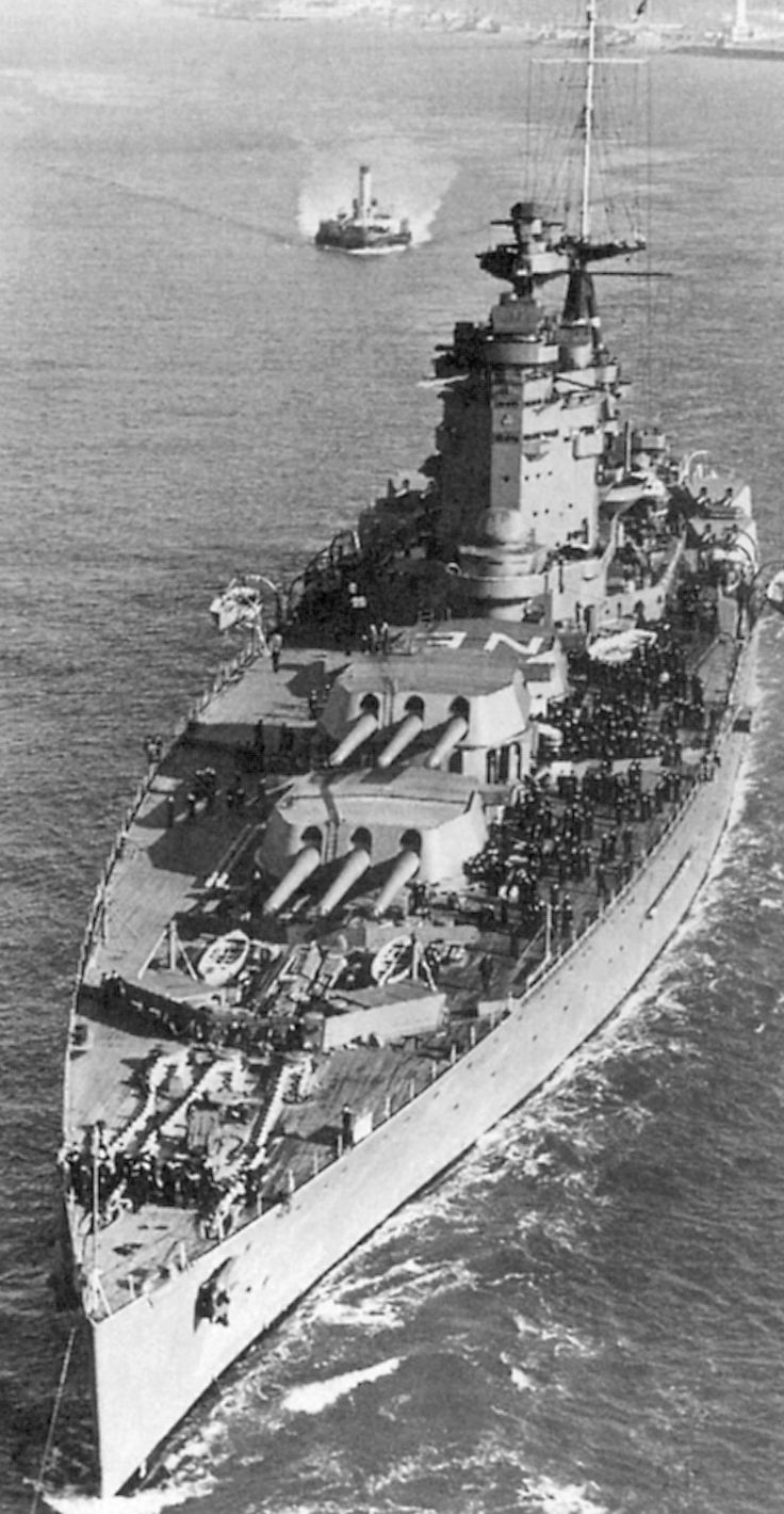 HMS Nelson, flagship for Admiral Somerville, commanding Force H.