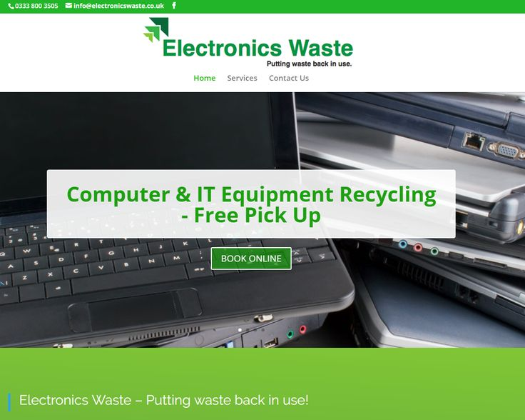 New website for recycling company in Glasgow I have just completed a basic website for a electronics recycling company called Electronics Waste Ltd who are based in Glasgow city centre  Working from a flyer I created for the client, we based the website around this.