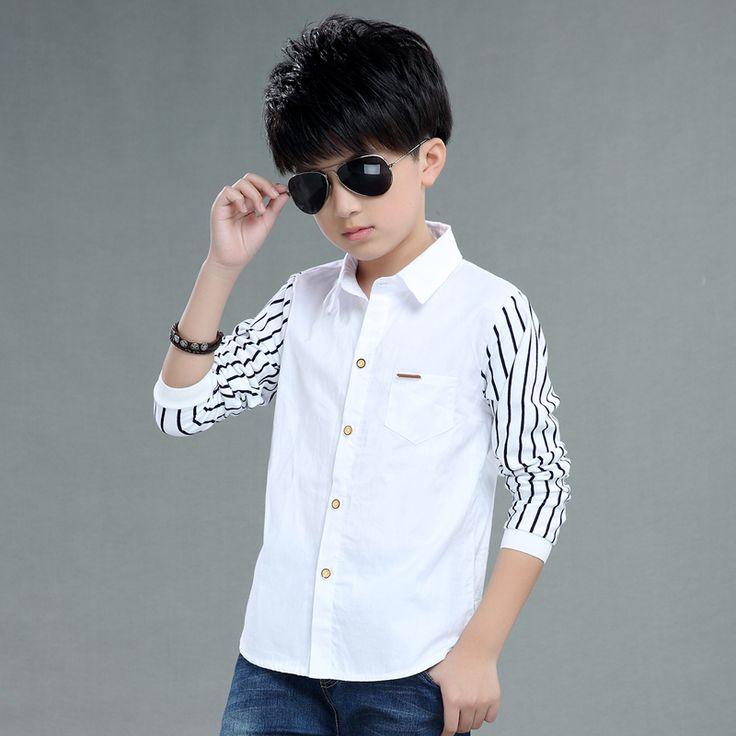 >> Click to Buy << 2017 autumn children's clothes boys shirts stripe long sleeve turn-down collar boy shirts for boys big kids causal shirts tops #Affiliate