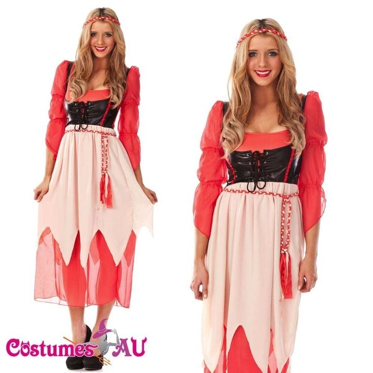 Ladies Bohemian Costume Fortune Teller Circus Gypsy Halloween Hens Fancy Dress #CostumesAU #Dress #FullOutfits