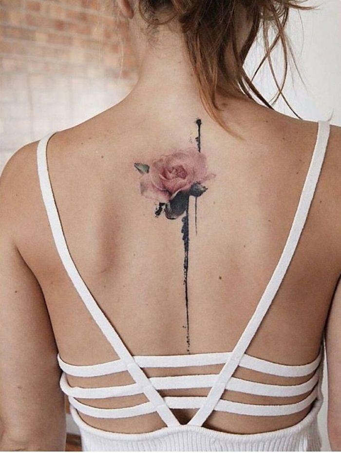 1001 Ideas De Tatuajes De Flores En Diferentes Estilos Tatuaje De Flores En La Espalda Espalda Mujer Tatuajes Espalda Mujer