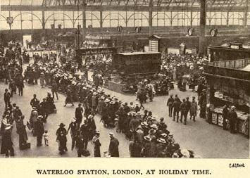 Waterloo Station Holiday Time